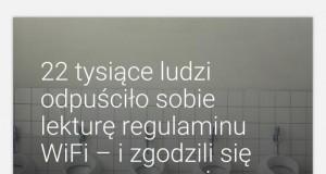 Czytajcie regulaminy sieci Wi-Fi