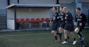 Najważniejszy trening piłkarski - aktorstwo