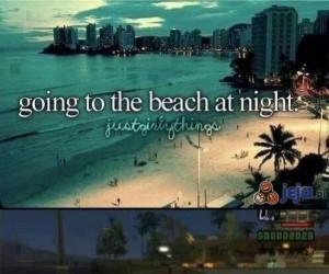 Na plażę w nocy