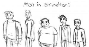 Animowani mężczyźni, a animowane kobiety