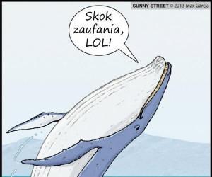 Zabawy integracyjne z wielorybem są ciężkie