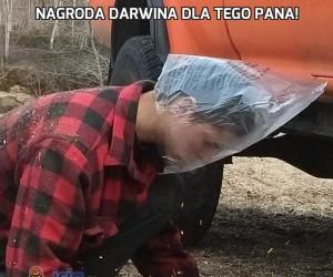 Nagroda Darwina dla tego pana!
