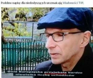 Tymczasem w Wiadomościach TVP...