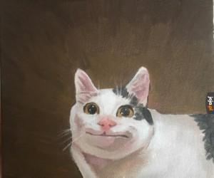 Ten kot stał się sztuką!