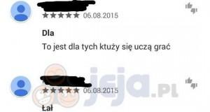 Opinie w Google Play