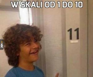 W skali od 1 do 10