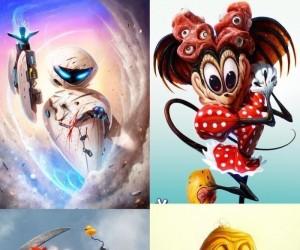 Bohaterowie kreskówek w wersji horror