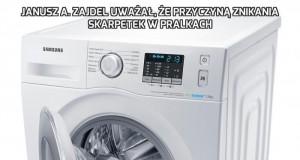 Janusz A. Zajdel uważał, że przyczyną znikania skarpetek w pralkach
