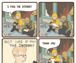 Tęsknię za internetem...