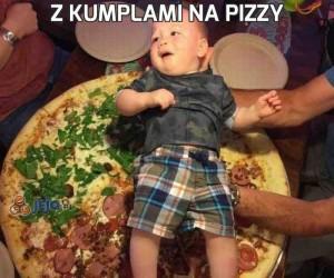 Z kumplami na pizzy
