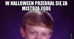 W Halloween przebrał się za mistrza Yode