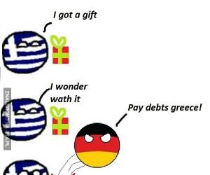 Prezent dla Grecji