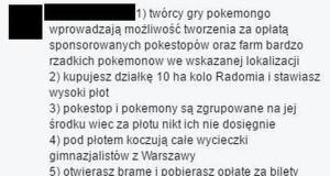 Bardzo duży plus Pokemon GO