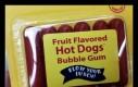 Owocowe gumy do żucia Hot-Dog