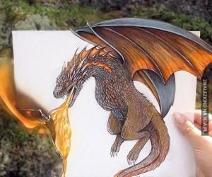 Uwaga, ogień w 3D