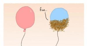 Całe szczęście, że nie jestem balonem