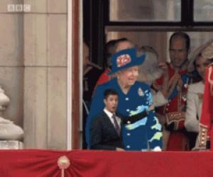 Królowa jako green screen