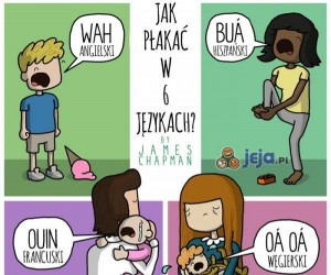 Jak płakać w 6 językach