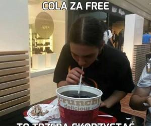 Cola za free