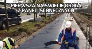 Pierwsza na świecie droga z paneli słonecznych
