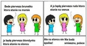 Blondynka na Słońcu