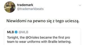 W końcu niewidomi mogą odczytywać nazwiska zawodników!