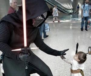 Kylo Ren spotyka małą Rey