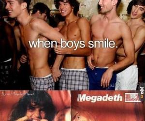 Kiedy chłopcy się uśmiechają