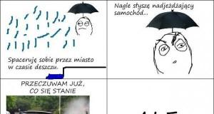Epickie unikanie deszczu