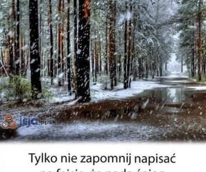 O matko, śnieg!