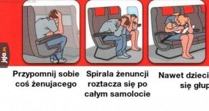 Instrukcje w samolocie