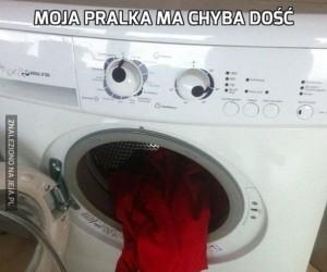 Moja pralka ma chyba dość