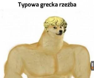 Typowa grecka rzeźba