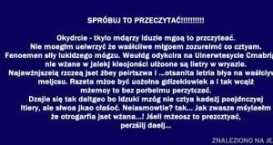 Spróbuj to przeczytać