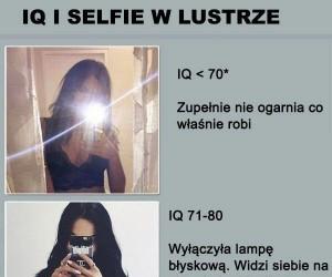 IQ a selfie w lustrze