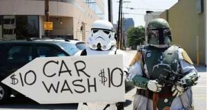 Myjnia samochodowa dla fanów Gwiezdnych Wojen