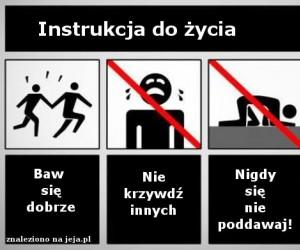 Instrukcja do życia
