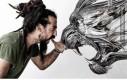 Zwierzęce maski rzeźbione ze stali