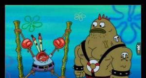 Pan Krab miał ochotę się zabawić