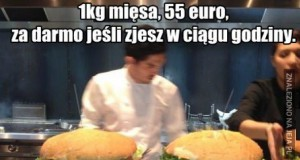 1kg mięsa, 55 euro