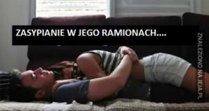 Zasypianie w ramionach...