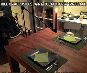 Kiedy zaprosiłeś ją na kolację przy świecach