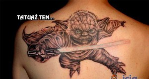 Tatuaż z Mistrzem Yodą