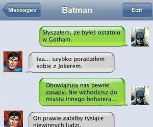 Batman spina się do Supermana