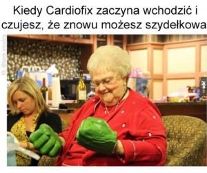 Babcia czuje przypływ mocy