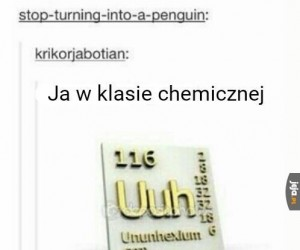 Nie tylko w chemicznej...