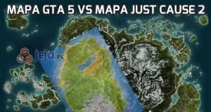 Mapa GTA 5 vs mapa Just Cause 2