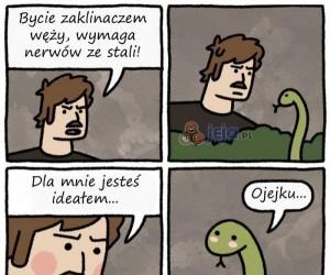 Ciężkie życie zaklinacza węży