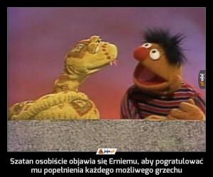 Szatan osobiście objawia się Erniemu, aby pogratulować mu popełnienia każdego możliwego grzechu
