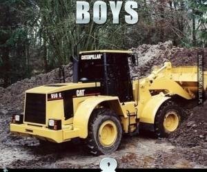 Chłopcy i ich zabawki